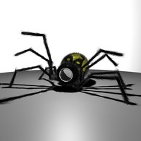 spider surveillance robot 3d model