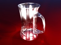 3d tall beer mug model