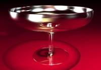 wide margarita glass obj