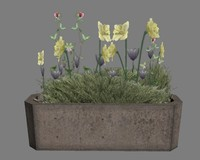 3d 3ds-3dsmax-low-polygon-plant plant flower model