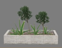 max 3ds-3dsmax-low-polygon-plant flower