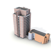 low-poly building 10 max