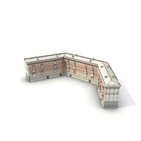 3d low-poly building 12 model
