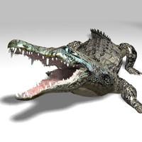3d realistic crocodile