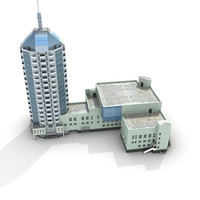 3d low-poly building 06 model