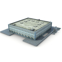 3dsmax low-poly building 07