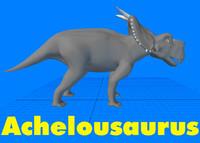 3d model achelousaurus dinosaur