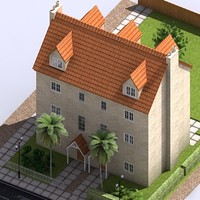 3d residential block model
