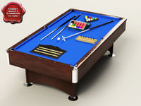 Deluxe 8ft Pool/Snooker Table Package