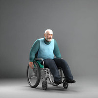 MeAnWheelChair / Man on a Wheelchair for 3DSMax 8