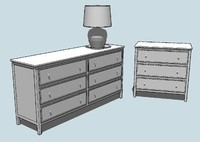 classic chest drawer kit 3d 3ds