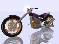 motocycle chopper c4d