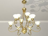 two-tier chandelier shades brass x
