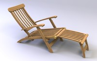steamer deck chair 3d model