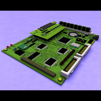 3d 3ds electronic circuit board