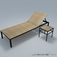 3d garden lounge chair model