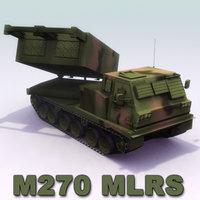 3d m270 mlrs artillery model