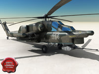 3d mi-28 havoc attack helicopter