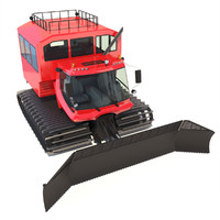 3d snowcat pistenbully 600 passengers model