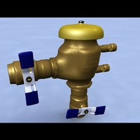 3d model pressure vacuum breaker