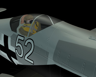 free german wwii focke wulf 3d model - Focke Wulf FW 190 (landed with pilot)... by triloricci