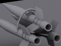 3ds max rocket cluster