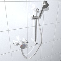 thermostatic shower fitting 3ds
