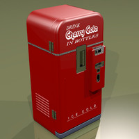 cola vending machine 3d model