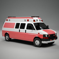 3d van ambulance
