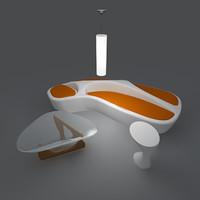 3d modern seating noguchi