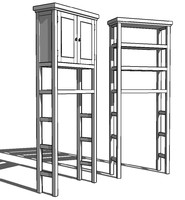 3d bathroom etagere cabinet