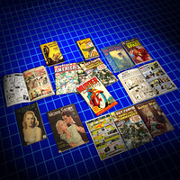 3d comic magazine book 01