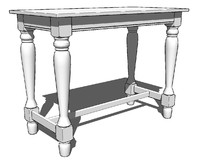 Spindel Leg Pub Table