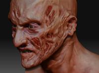 Freddy Bust Zbrush sculpt