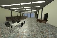 3d model of library modern