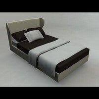 3d model rea bed furniture