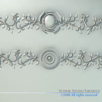 stucco decorations 3d 3ds