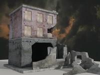3d war building model