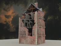 3d war building games model