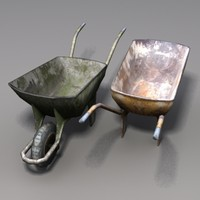 3d model old wheelbarrow