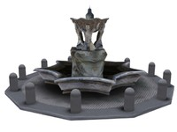 greek fountain 3d obj