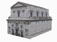 old vatican european church building 3d model