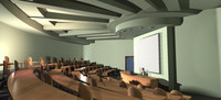 university hall 3d model