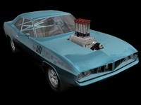 streerod 71 plymouth cuda 3d model