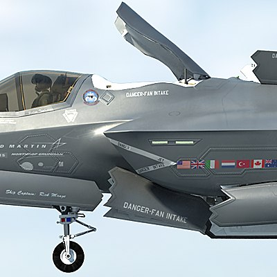 3d f-35 bf-1 lightning ii model - US  Air Force F-35 BF-1 Lightning II STOVL with USAF pilot... by Camelot Inc