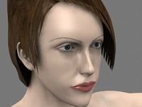 woman female girl 3d max