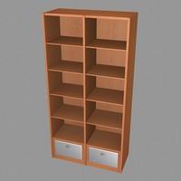 modern bookcase 3d model