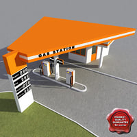 3ds max gas station v17