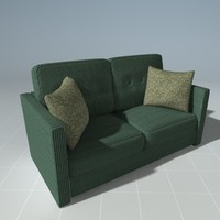 3ds max love seat