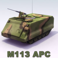 m113 apc machine gun 3d model